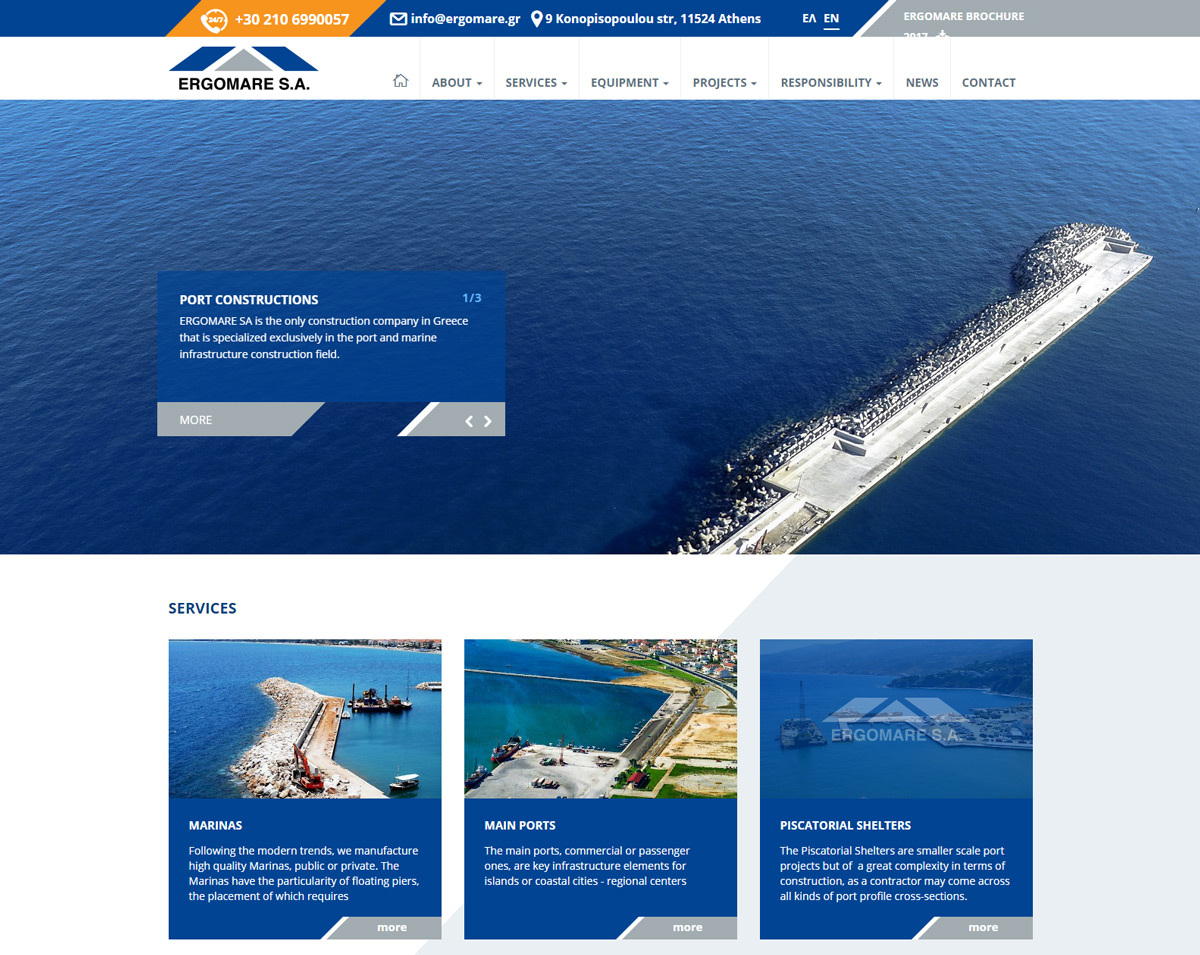 Ergomare SA - Port and Marine Constructions