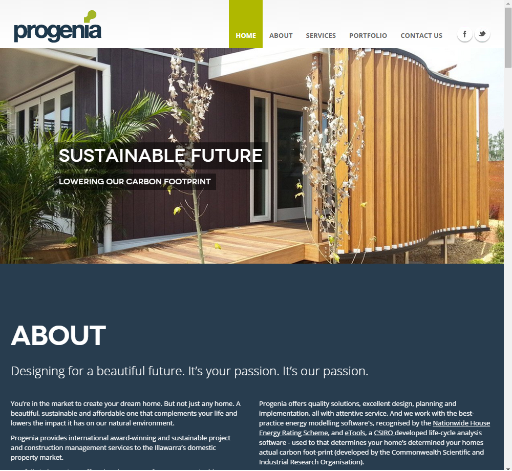 Progenia: Wollongong Sustainable Homes - Building Design