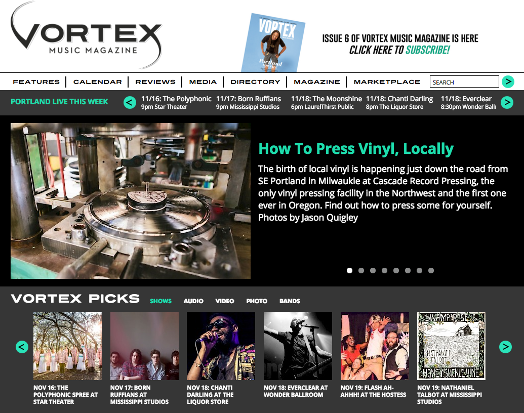 Vortex Music Magazine